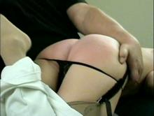spanked red butt